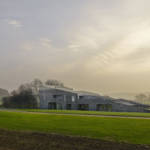 Angular house with flint exterior