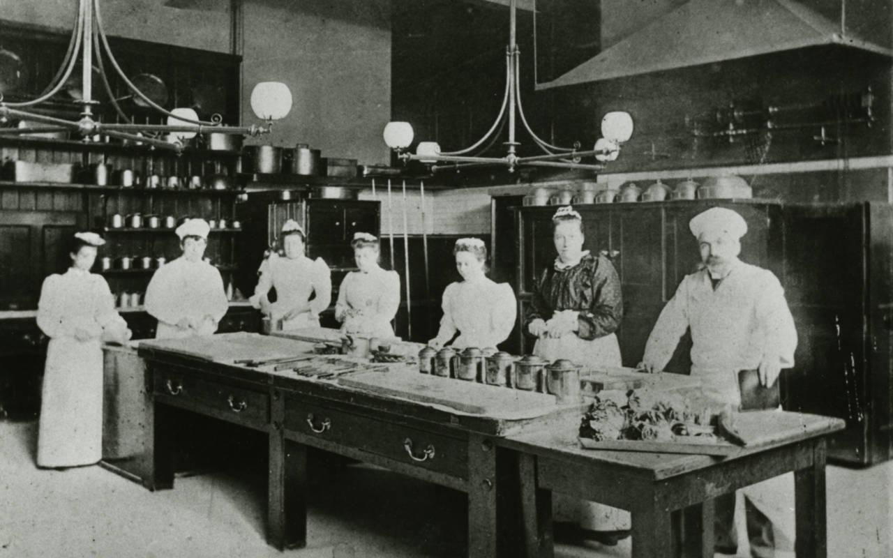 Waddesdon kitchen staff, 1900