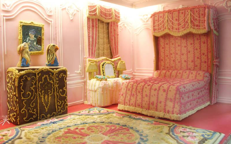 Waddesdon bedroom made in gingerbread