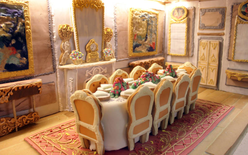 Waddesdon dining room made in gingerbread