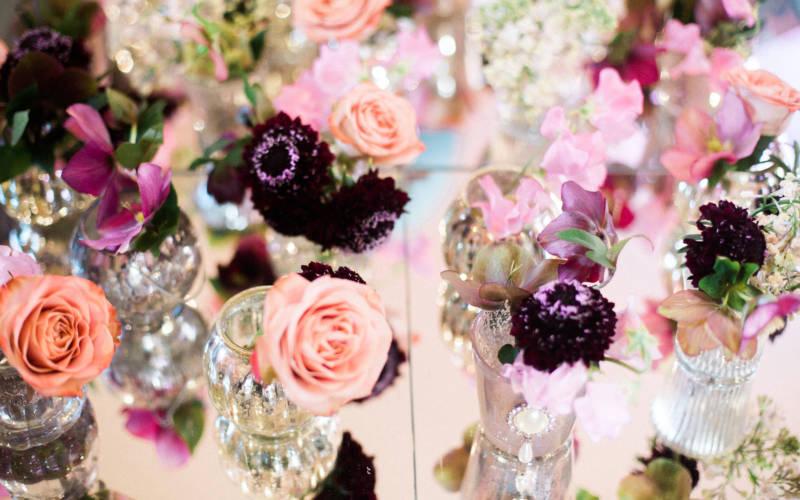 Multicoloured flower arrangement