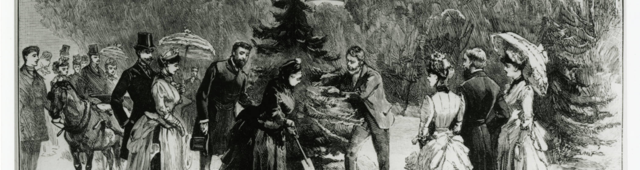Queen Victoria planting a tree at Waddesdon
