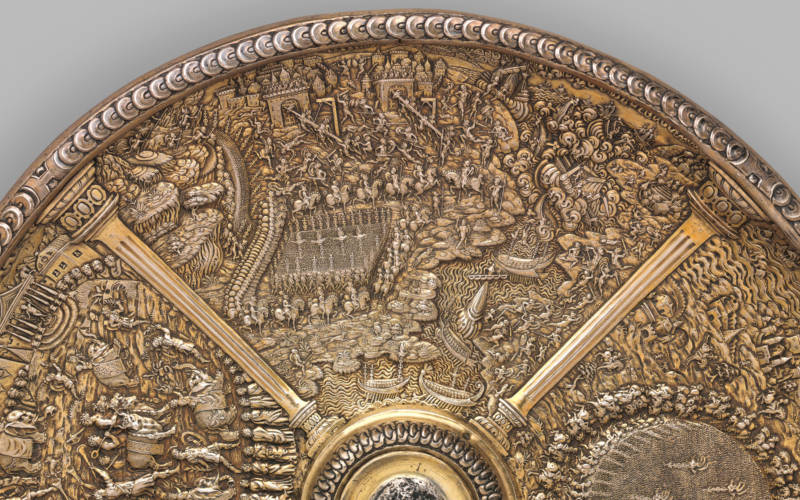 Silver standing cup depicting scenes from the life of Julius Caesar