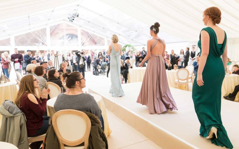 Bridal catwalk show at Waddesdon