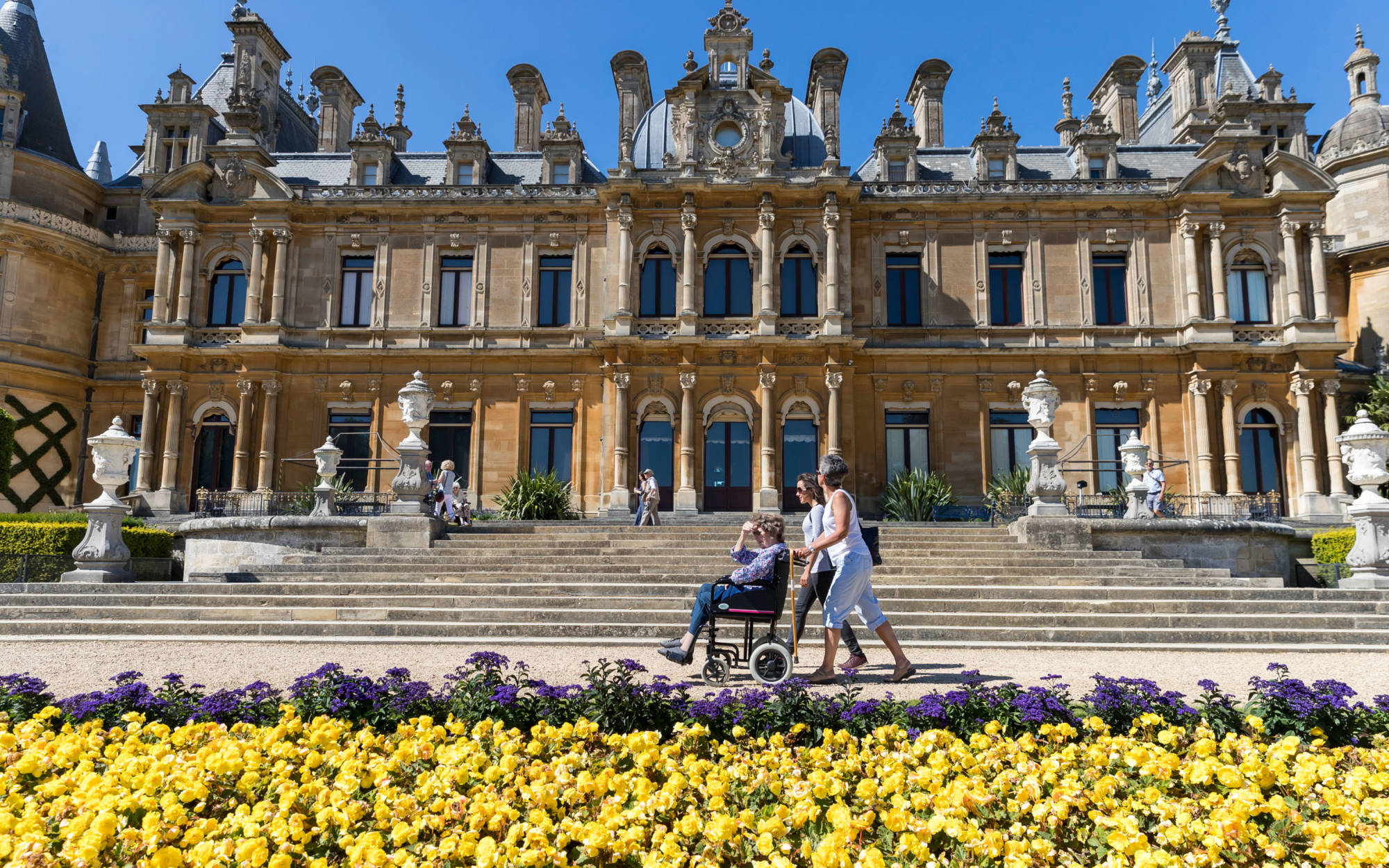 Visitor in a wheelchair on the South Front