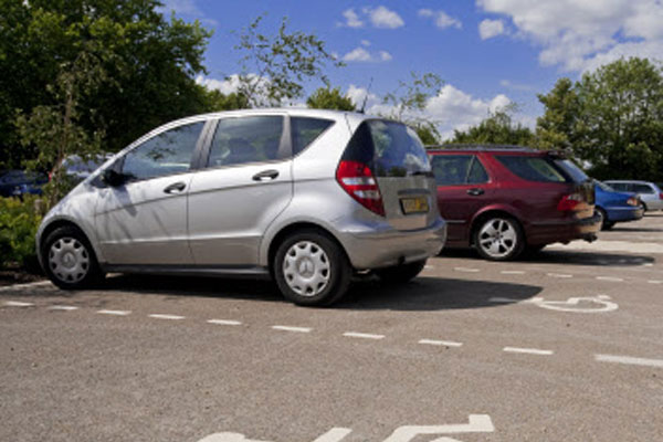 Disabled car park spaces