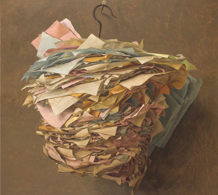 Painting of memo papers