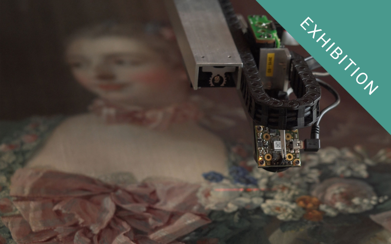 The Lucida 3D Scanner recording the surface of the Madame de Pompadour painting