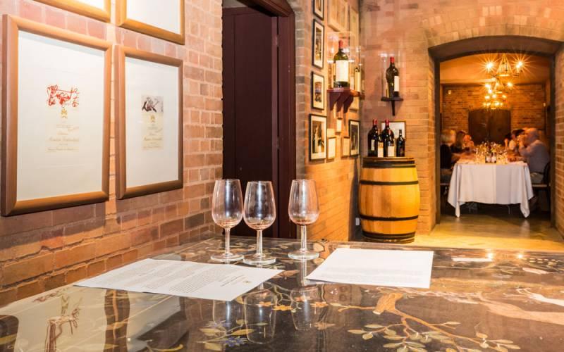 Wine tasting in the cellars at Waddesdon
