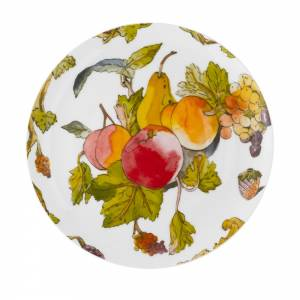 Plate with fruits and flora design