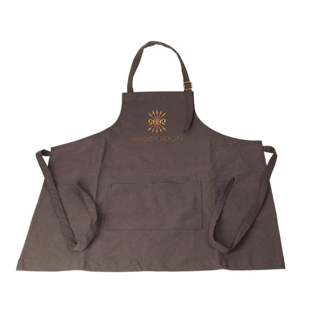 Waddesdon branded blue cotton apron