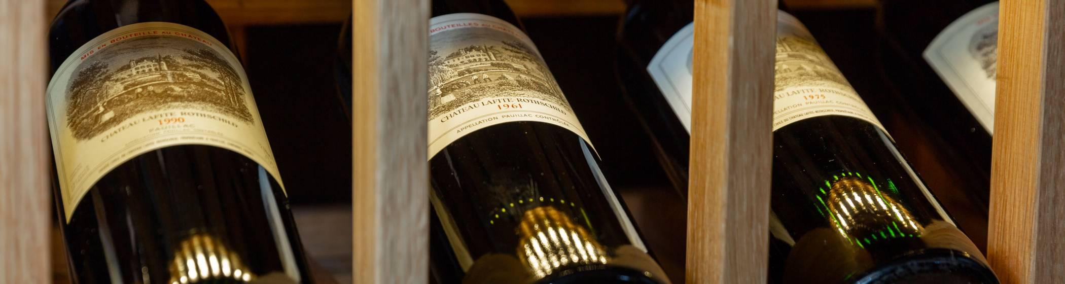 Château Lafite Rothschild wine bottles