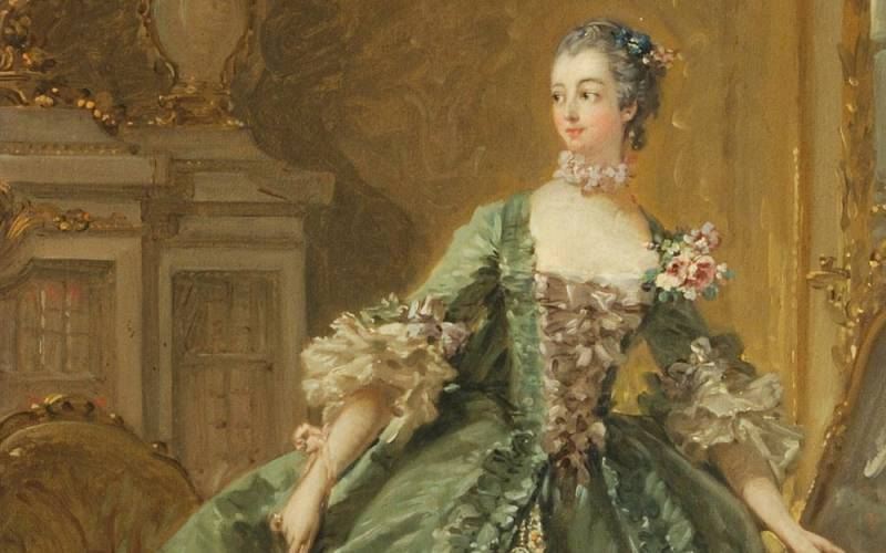 Sketch for a Portrait of Madame de Pompadour, Francois Boucher. Photo (c) Waddesdon Image Library, Public Catalogue Foundation