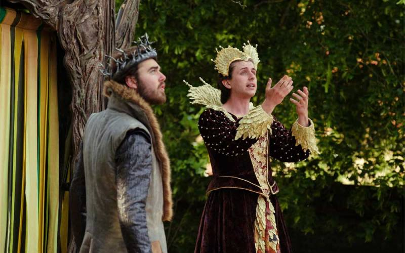 Performance of a midsummer nights dream by the lord chamberlain's men
