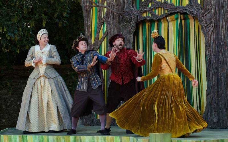 Performance of a midsummer nights dream by the lord chamberlains men