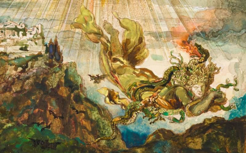 Gustave-Moreau-Exhibition-Jupiter-and-the-Thunderbolts-detail-1000-625
