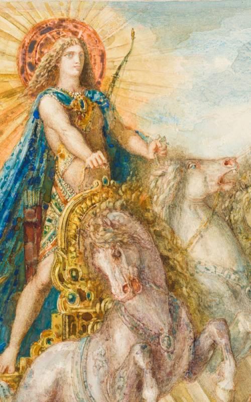 Gustave Moreau Phoebus and Boreas (detail)