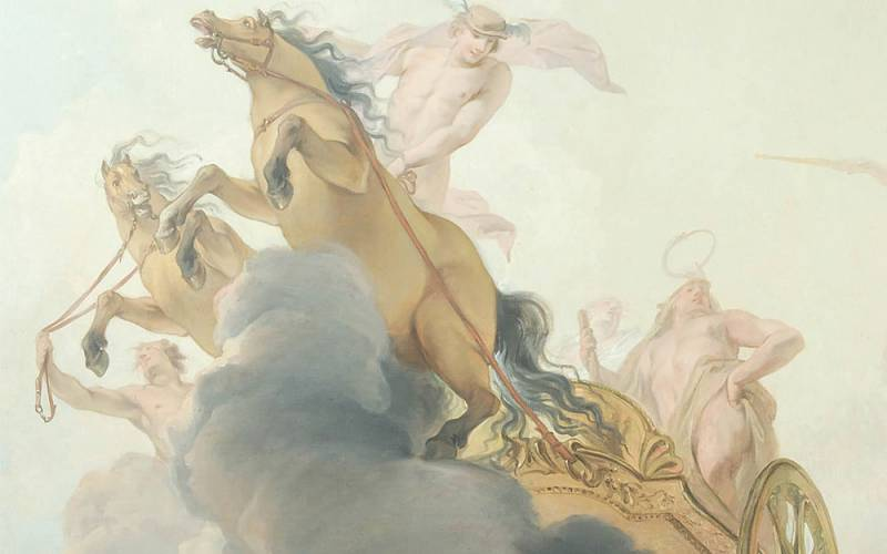 Ceiling-painting-of-a-chariot-pulled-by-two-horses-carrying-Hercules-driven-by-a-naked-Mercury-Jacob-de-Wit