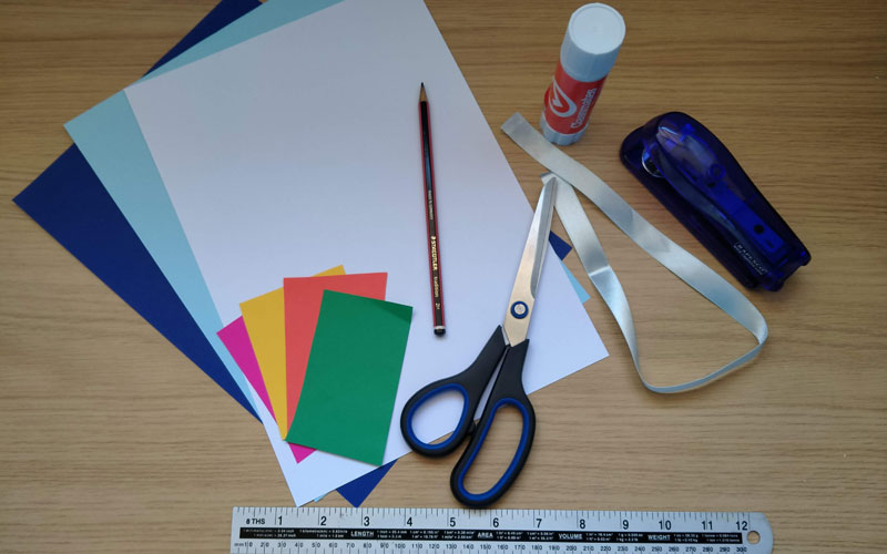 Craft materials for home activities