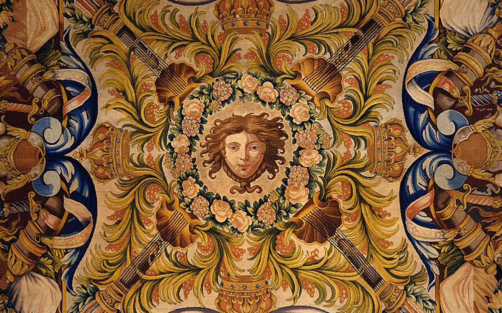 Savonnerie manufactory Carpet with the head of Apollo, 1683