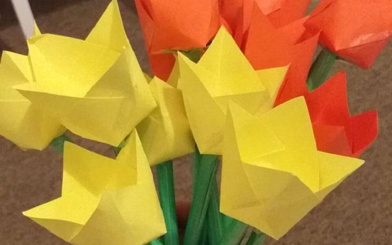 Paper craft tulips
