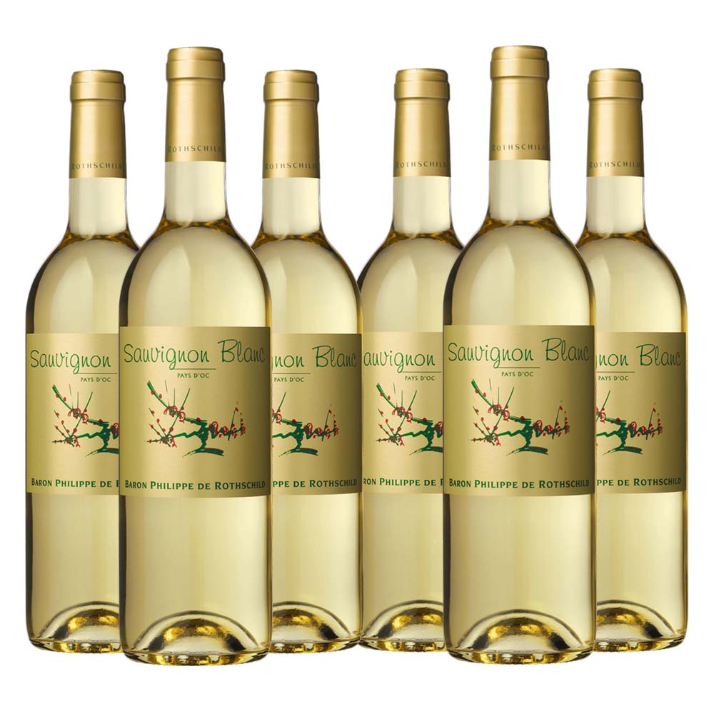 Pays d'oc Sauvignon Blanc gold label 6 bottle case