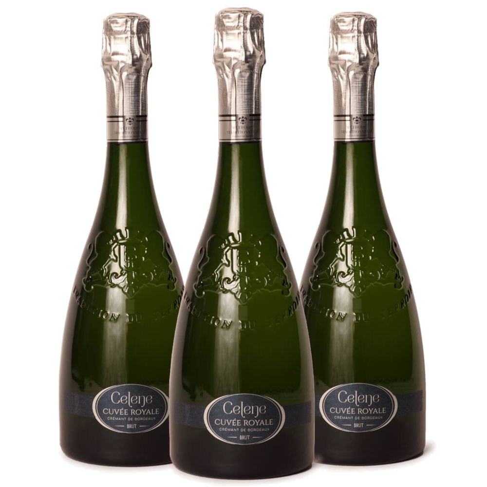 Cremant blanc three bottle case