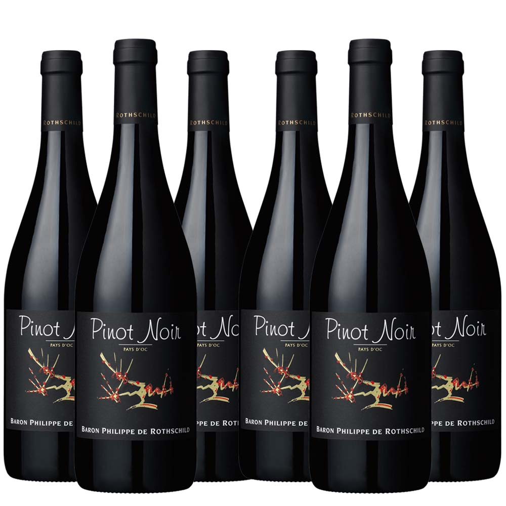 Baron Philippe Pays Doc Pinot Noir six bottle case