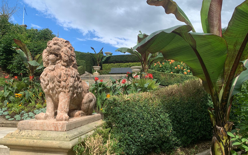 Red Lion Steps in the gardens at Waddesdon