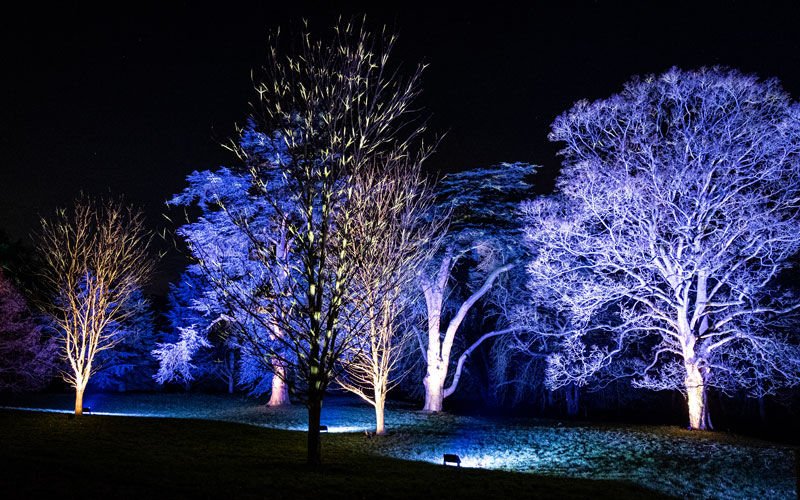 Light trail at Waddesdon, A Rothschild House & Gardens in Buckinghamshire