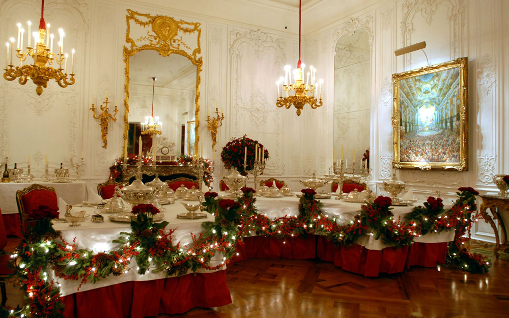 The White Drawing Room, Christmas 2008.