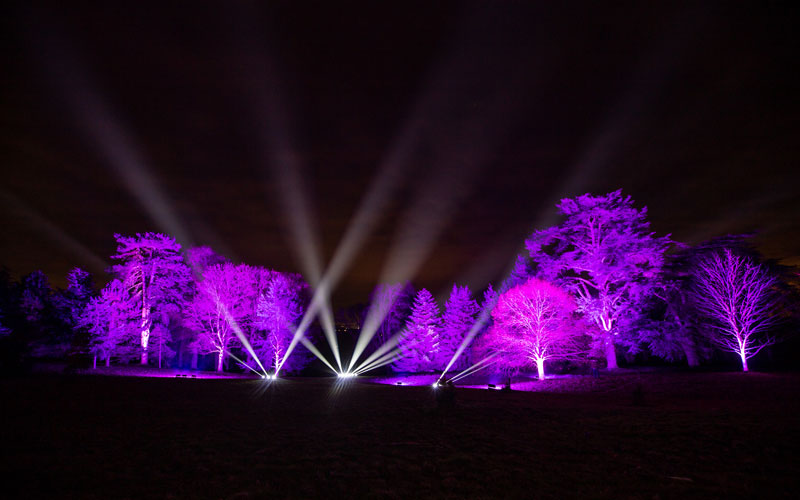 Son et lumiere display at Waddesdon