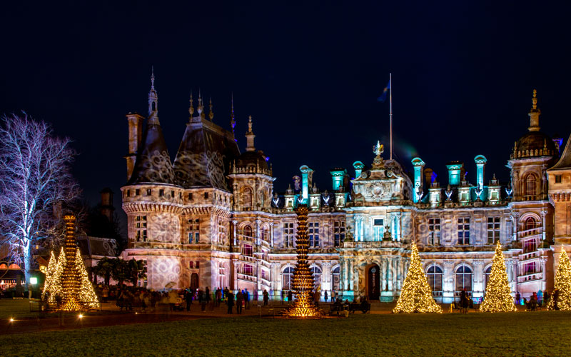 Manor light show at Waddesdon