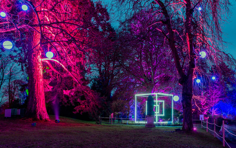 Winter Light trail at Waddesdon