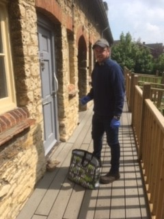 Tom a volunteer from the Waddesdon Community Support Group delivering meals to local residents
