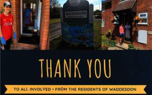 Thank you card from Waddesdon residents