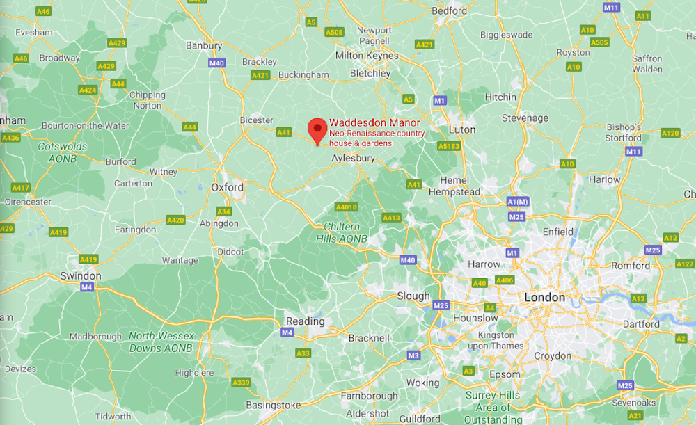 Link to Google map directions to Waddesdon