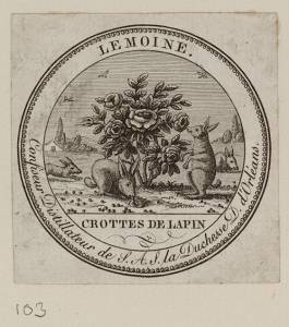 Unknown maker, Label for Chocolate Drops Made by Lemoine, Confectioner and Distiller, c. 1815