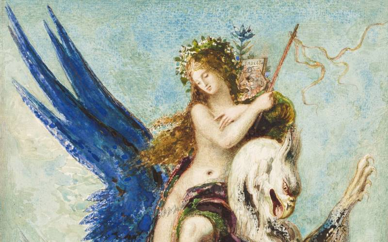 2100 x 1313 Allegory of Fable (detail), Gustave Moreau 1879