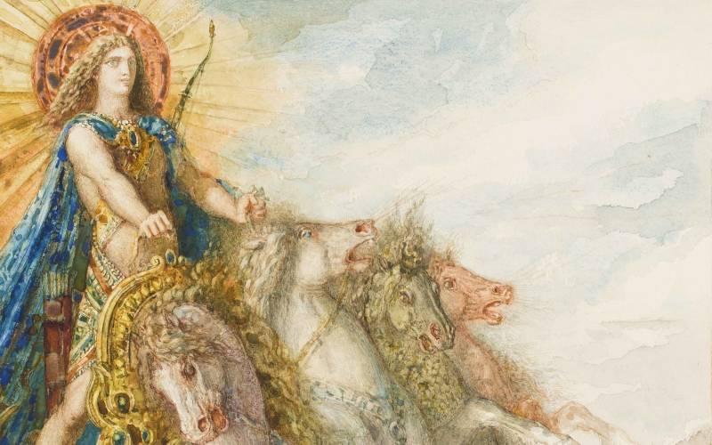 2100 x 1313 Phoebus and Boreas (detail), Gustave Moreau 1879