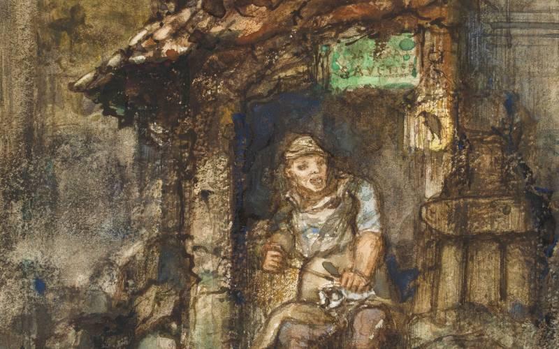 The cobbler and the financier (detail)