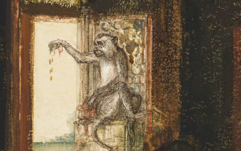 The miser and the monkey (detail)