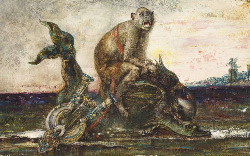 The monkey and the dolphin (detail)