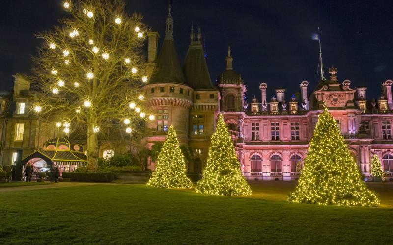Manor illuminated, Christmas at Waddesdon Manor © National Trust, Waddes...