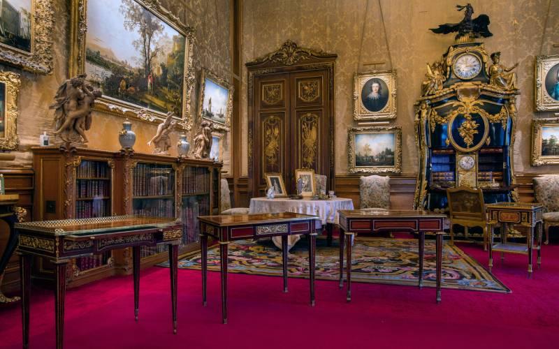 Open furniture spotlighting Riesener in the Morning Room