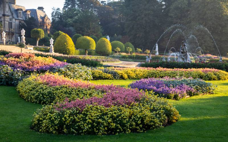 Parterre and fountain at Waddesdon