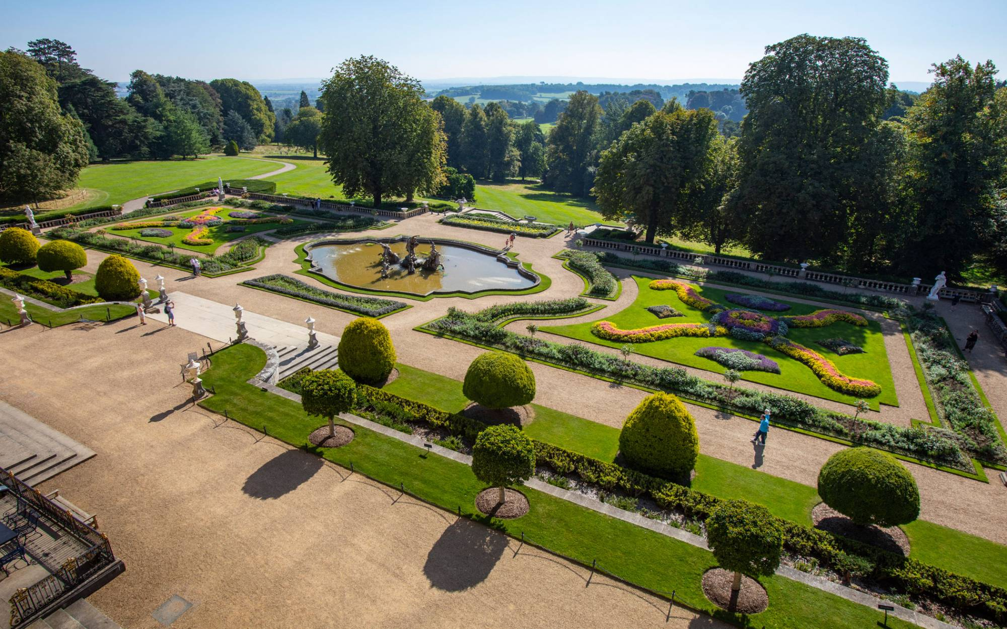 View of Parterre from above