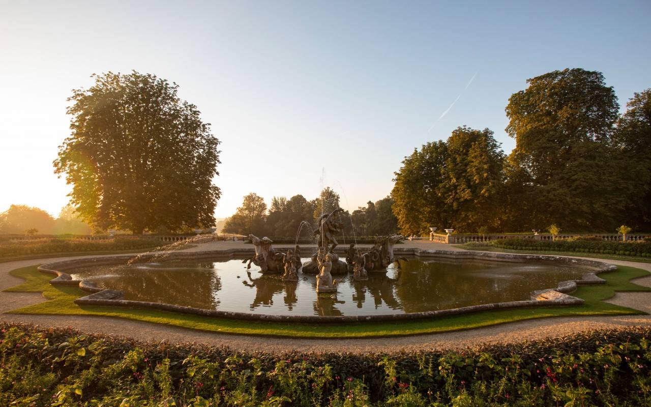 Fountain on Parterre at Waddesdon