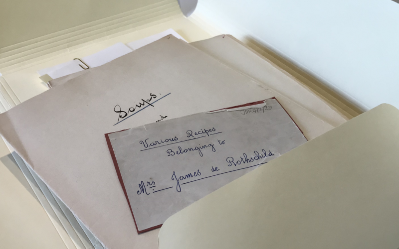 Recipes from Waddesdon's Archive