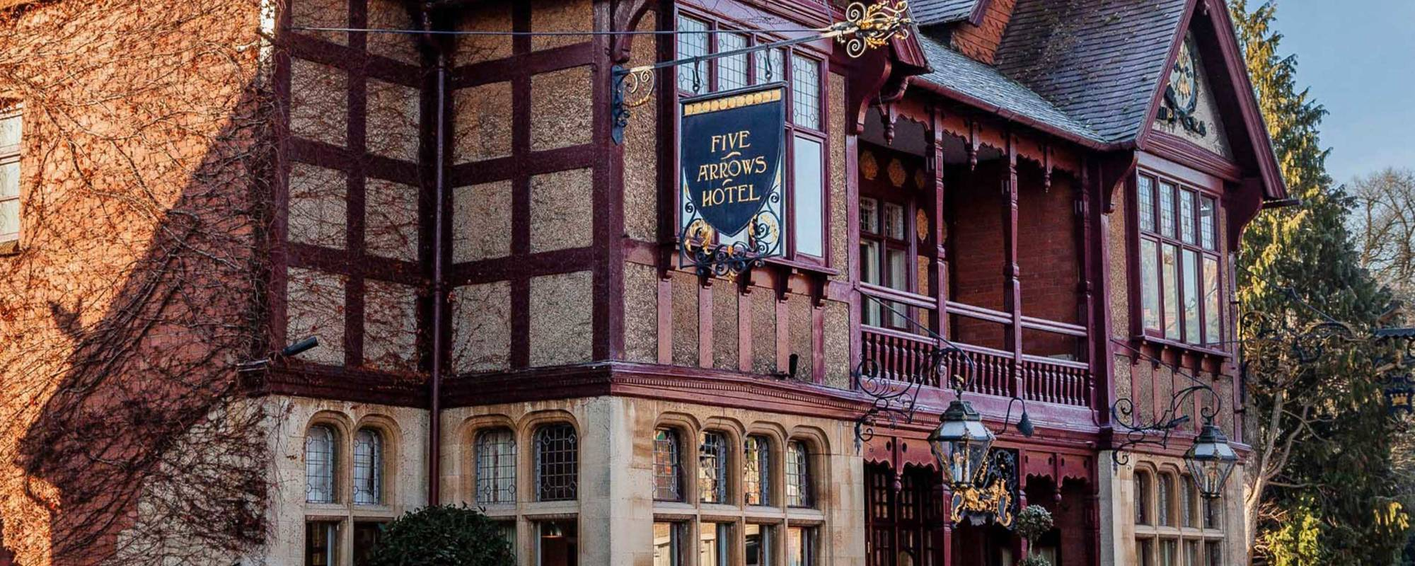 Five Arrows Hotel on a winter's day